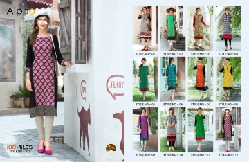 100 MILES ALPHA SERIES 01-12 STYLISH PARTY WEAR KURTI AT WHOLESALE BEST RATE BY GOSIYA EXPORTS (5)