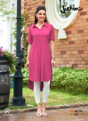 100 MILES JUST IN VOL 2 RAYON DESIGNER KURTI WHOLESALER BEST RATE BY GOSIYA EXPORTS SURAT