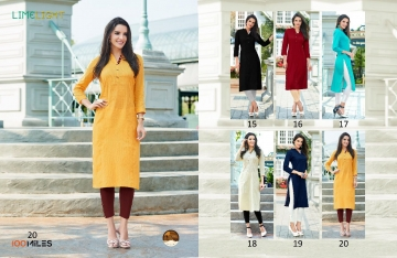 100 MILES LIMELIGHT VOL 3 COTTON KURTI WHOLESALE BEST RATE BY GOSIYA EXPORTS SURAT (4)