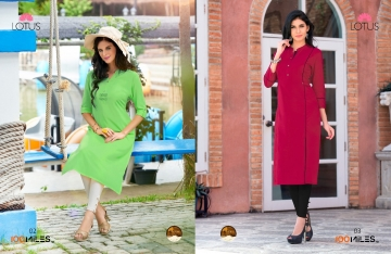 100 MILES LOTUS COTTON DESIGNER KURTIES WHOLESALE DEALER SURAT BEST RATE BY GOSIYA EXPORT SURAT (2)