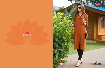 100 MILES LOTUS COTTON DESIGNER KURTIES WHOLESALE DEALER SURAT BEST RATE BY GOSIYA EXPORT SURAT