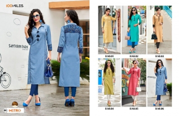 100 MILES METRO STICHED COTTON KURTI COLLECTION BEST RATE BY GOSIYA EXPORTS SURAT (1)