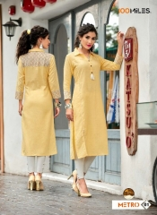 100 MILES METRO STICHED COTTON KURTI COLLECTION BEST RATE BY GOSIYA EXPORTS SURAT (4)