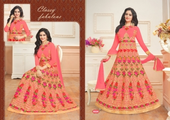 A.M. FASHION FLORENCE BRIDAL-6 REAL GEORGETTE CATALOG WHOLESALE SUPPLIER DELEAR BEST RATE BY GOSIYA EXPORTS SURAT (4)