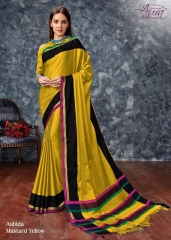 AABIDA SAREES BY AURA DESIGNER COTTON SILK SAREES ARE AVAILABLE AT WHOLESALE BEST RATE BY GOSIYA EXPORTS SURAT (6)