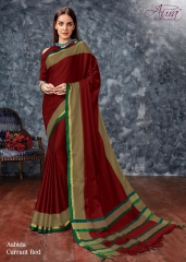 AABIDA SAREES BY AURA DESIGNER COTTON SILK SAREES ARE AVAILABLE AT WHOLESALE BEST RATE BY GOSIYA EXPORTS SURAT (7)