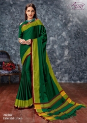 AABIDA SAREES BY AURA DESIGNER COTTON SILK SAREES ARE AVAILABLE AT WHOLESALE BEST RATE BY GOSIYA EXPORTS SURAT (8)