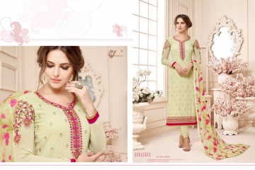 AADESH NX QUEEN VOL 11 GEORGETTE STRAIGHT EMBROIDERY SUITS WHOLESALE BEST RATE BY GOSIYA EXPORTS (1)