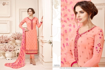 AADESH NX QUEEN VOL 11 GEORGETTE STRAIGHT EMBROIDERY SUITS WHOLESALE BEST RATE BY GOSIYA EXPORTS (2)