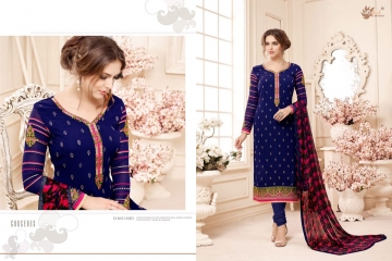 AADESH NX QUEEN VOL 11 GEORGETTE STRAIGHT EMBROIDERY SUITS WHOLESALE BEST RATE BY GOSIYA EXPORTS (3)