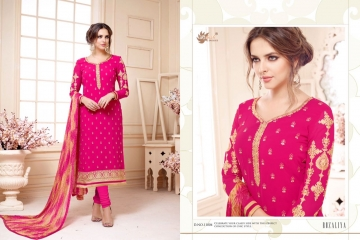AADESH NX QUEEN VOL 11 GEORGETTE STRAIGHT EMBROIDERY SUITS WHOLESALE BEST RATE BY GOSIYA EXPORTS (4)