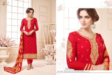 AADESH NX QUEEN VOL 11 GEORGETTE STRAIGHT EMBROIDERY SUITS WHOLESALE BEST RATE BY GOSIYA EXPORTS (5)