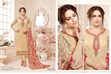 AADESH NX QUEEN VOL 11 GEORGETTE STRAIGHT EMBROIDERY SUITS WHOLESALE BEST RATE BY GOSIYA EXPORTS (6)