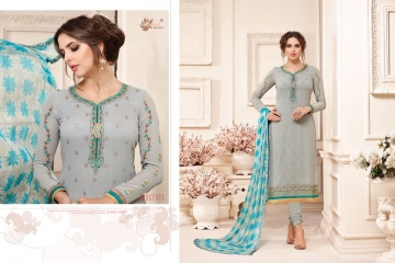 AADESH NX QUEEN VOL 11 GEORGETTE STRAIGHT EMBROIDERY SUITS WHOLESALE BEST RATE BY GOSIYA EXPORTS (7)