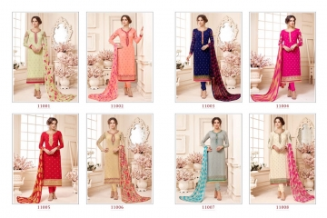 AADESH NX QUEEN VOL 11 GEORGETTE STRAIGHT EMBROIDERY SUITS WHOLESALE BEST RATE BY GOSIYA EXPORTS (9)