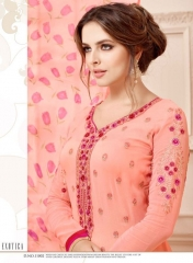 AADESH NX QUEEN VOL 11 GEORGETTE STRAIGHT EMBROIDERY SUITS WHOLESALE BEST RATE BY GOSIYA EXPORTS