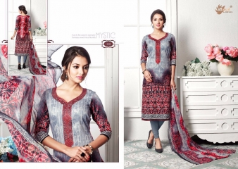 AADESH NX ZOHRA 13 CATALOG COTTON SATIN NECK EMBROIDERED SALWAR KAMEEZ WHOLESALE SELLER BEST RATE BY GOSIYA EXPORTS SURAT ( (1)