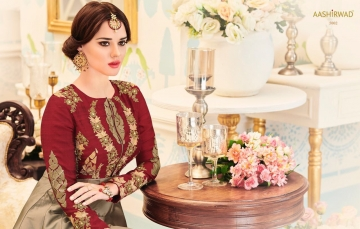 AASHIRWAD CREATION ALMIRAH CATALOG DESIGNER PARTY WEAR SALWAR KAMEEZ WHOLESALE BEST RATE BY GOSIYA EXPORTS SURAT (7)