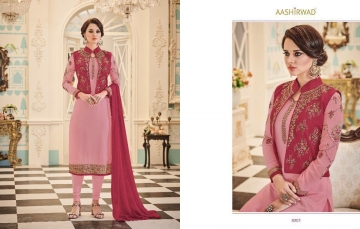 AASHIRWAD CREATION NURA CATALOG WHOLESALE GEORGETTE PARTY WEAR SALWAR SUITS WHOLESALE DEALER BEST RATE BY GOSIYA EXPORTS (1)