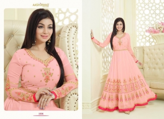 AASHIRWAD CREATION SAPPHIRE CATALOG GEORGETTE EMBROIDERED SUPER BENEFITS RATES WHOLESALER (2)