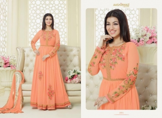 AASHIRWAD CREATION SAPPHIRE CATALOG GEORGETTE EMBROIDERED SUPER BENEFITS RATES WHOLESALER (5)