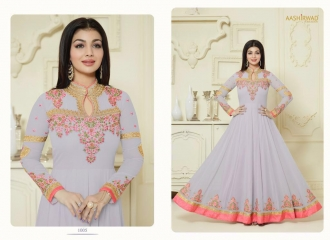 AASHIRWAD CREATION SAPPHIRE CATALOG GEORGETTE EMBROIDERED SUPER BENEFITS RATES WHOLESALER (6)