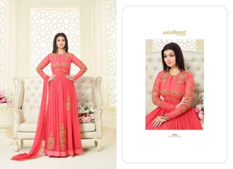 AASHIRWAD CREATION SIGNATURE GEORGETTE SUITS WHOLESALE BEST RATE BY GOSIYA EXPORTS SURAT (2)