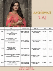 AASHIRWAD CREATION TAJ MULBERRY SILK SUITS CATALOGUE WHOLESALE BEST ARTE BY GOSIYA EXPORTS SURAT ONLINE (6)