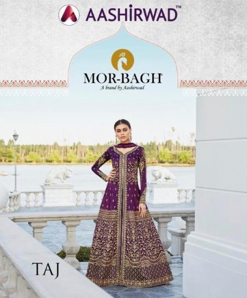 AASHIRWAD MOR BAGH TAJ VOL 4 7007-7010 SERIES BRIDAL DRESSES ONLINE SHOPPING WHOLESALE DEALER BEST RATE BY GOSIYA EXPORTS SURAT (1)