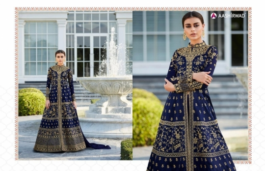 AASHIRWAD MOR BAGH TAJ VOL 4 7007-7010 SERIES BRIDAL DRESSES ONLINE SHOPPING WHOLESALE DEALER BEST RATE BY GOSIYA EXPORTS SURAT (3)