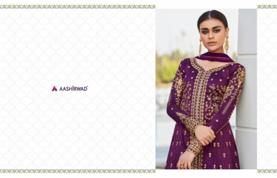 AASHIRWAD MOR BAGH TAJ VOL 4 7007-7010 SERIES BRIDAL DRESSES ONLINE SHOPPING WHOLESALE DEALER BEST RATE BY GOSIYA EXPORTS SURAT (6)