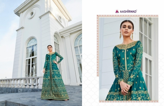 AASHIRWAD MOR BAGH TAJ VOL 4 7007-7010 SERIES BRIDAL DRESSES ONLINE SHOPPING WHOLESALE DEALER BEST RATE BY GOSIYA EXPORTS SURAT (8)
