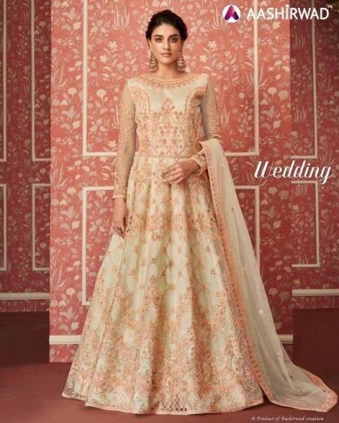 AASHIRWAD WEDDING HEAVY ANARKALI GOWN WHOLESALE  (1)