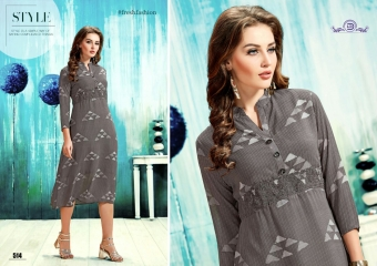 ALISHA DIVA DESIGNS CASUAL WEAR FOUX GEORGETTE PRINT KURTI COLLECTION WHOLESALE BEST RATE BYGOSIYA EXPORTS SURAT (8)