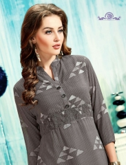 ALISHA DIVA DESIGNS CASUAL WEAR FOUX GEORGETTE PRINT KURTI COLLECTION WHOLESALE BEST RATE BYGOSIYA EXPORTS SURAT
