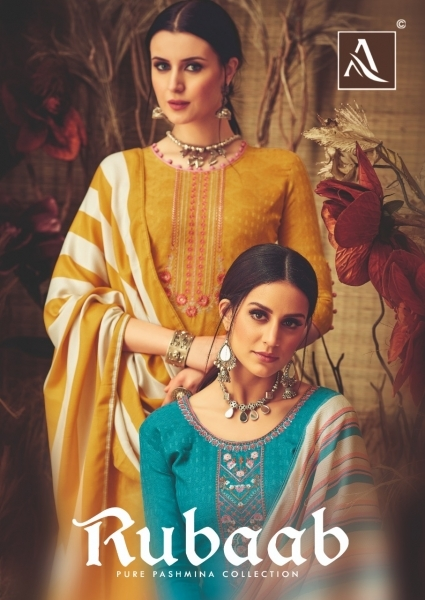 ALOK SUITS PRESENTS RUBAAB PASHMINA FABRIC DRESS MATERIAL AT WHOLESALE DEALER BEST RATE BY GOSIYA EXPORTS SURAT (1)