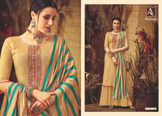 ALOK SUITS PRESENTS RUBAAB PASHMINA FABRIC DRESS MATERIAL AT WHOLESALE DEALER BEST RATE BY GOSIYA EXPORTS SURAT (8)