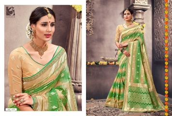 ALOUKIK SAREE AA601-AA613 EXCLUSIVE SILK SAREE CATALOG FROM SURAT SUPPLIER WHOLESALE BEST RATE BY GOSIYA EXPORTS SURAT (12)