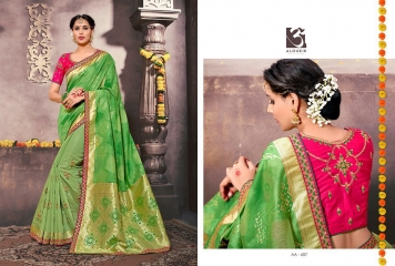ALOUKIK SAREE AA601-AA613 EXCLUSIVE SILK SAREE CATALOG FROM SURAT SUPPLIER WHOLESALE BEST RATE BY GOSIYA EXPORTS SURAT (8)