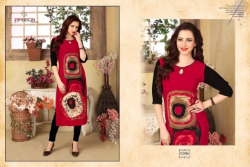 AMAYA GARMENT BLOSSOM GEORGETTE KURTI DEALER BEST RATE BY GOSIYA EXPORTS SURAT (5)