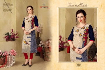 AMAYA GARMENT BLOSSOM GEORGETTE KURTI DEALER BEST RATE BY GOSIYA EXPORTS SURAT (9)
