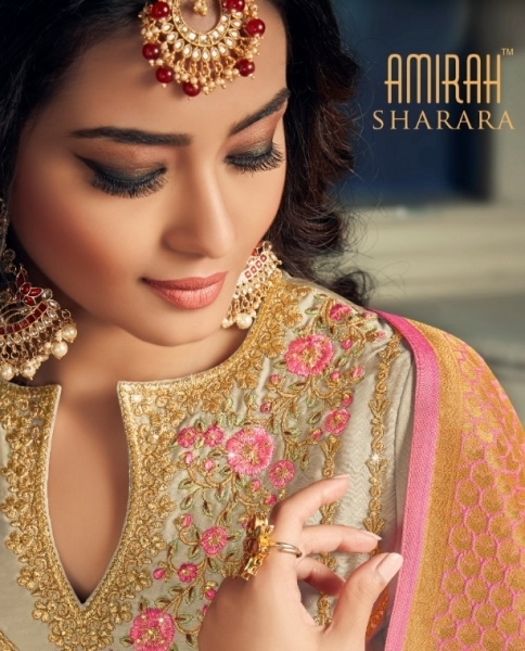 AMIRAH SHARARA GEORGETTE FABRIC WITH HEAVY WORK SUITS WHOLESALE DEALER BEST RATE BY GOSIYA EXPORTS SURAT (1)