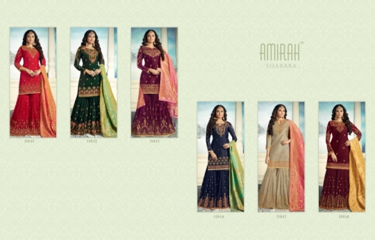 AMIRAH SHARARA GEORGETTE FABRIC WITH HEAVY WORK SUITS WHOLESALE DEALER BEST RATE BY GOSIYA EXPORTS SURAT (2)