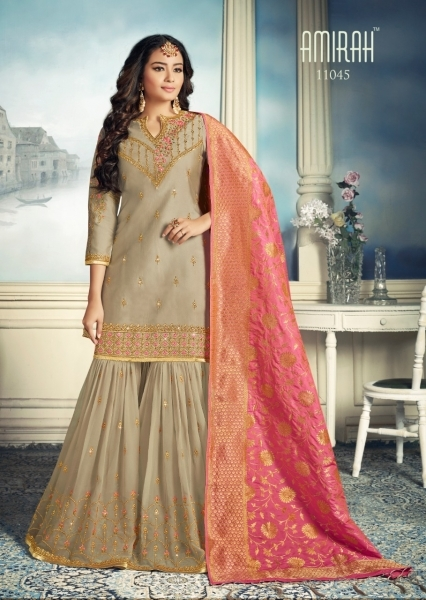 AMIRAH SHARARA GEORGETTE FABRIC WITH HEAVY WORK SUITS WHOLESALE DEALER BEST RATE BY GOSIYA EXPORTS SURAT (4)