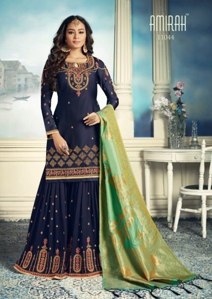 AMIRAH SHARARA GEORGETTE FABRIC WITH HEAVY WORK SUITS WHOLESALE DEALER BEST RATE BY GOSIYA EXPORTS SURAT (5)