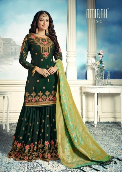 AMIRAH SHARARA GEORGETTE FABRIC WITH HEAVY WORK SUITS WHOLESALE DEALER BEST RATE BY GOSIYA EXPORTS SURAT (7)