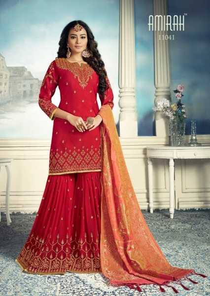 AMIRAH SHARARA GEORGETTE FABRIC WITH HEAVY WORK SUITS WHOLESALE DEALER BEST RATE BY GOSIYA EXPORTS SURAT (8)