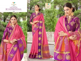 AMRAPALI SAREES BY TRIVENI DESIGNER ART SILK SAREES ARE AVAILABLE AT WHOLESALE BEST RATE BY GOSIYA EXPORTS (1)