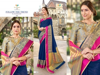 AMRAPALI SAREES BY TRIVENI DESIGNER ART SILK SAREES ARE AVAILABLE AT WHOLESALE BEST RATE BY GOSIYA EXPORTS (2)