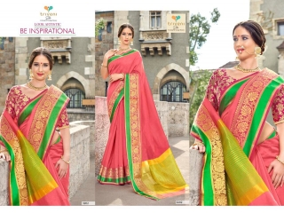 AMRAPALI SAREES BY TRIVENI DESIGNER ART SILK SAREES ARE AVAILABLE AT WHOLESALE BEST RATE BY GOSIYA EXPORTS (7)